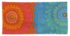 Beach Towel featuring the painting Be Exactly Who You Are by Lisa Weedn