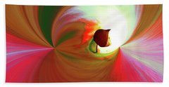 Be Happy, Red-rose With Physalis Beach Towel