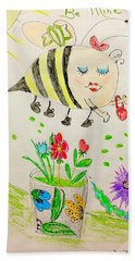 Be Mine Bumblebee Beach Towel