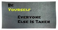 Be Yourself #1 Beach Sheet