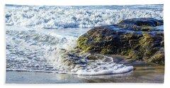 Wave Around A Rock Beach Towel