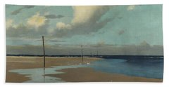 Beach At Low Tide Beach Towel by Frederick Milner