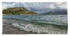 Beach Towel featuring the photograph Beach At St. Kitts by Belinda Greb