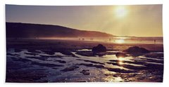 Beach Sheet featuring the photograph Beach At Sunset by Lyn Randle
