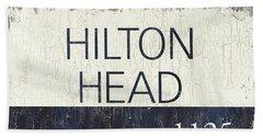 Beach Badge Hilton Head Beach Towel
