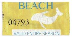 Beach Badge Rehoboth Beach Beach Towel