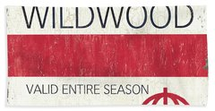 Beach Badge Wildwood 2 Beach Towel