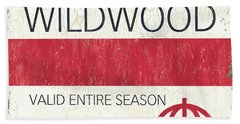 Beach Badge Wildwood 2 Beach Towel