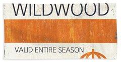 Beach Badge Wildwood Beach Towel