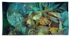 Beach Sheet featuring the mixed media Beach Beauty 10  by Lynda Lehmann