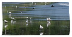 Beach Birds Beach Towel by Adria Trail