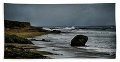 Beach Towel featuring the photograph Beach Boulder by Joseph Hollingsworth