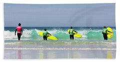 Beach Towel featuring the photograph Beach Boys Go Surfing by Terri Waters