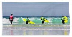 Beach Sheet featuring the photograph Beach Boys Go Surfing by Terri Waters