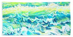 Beach Break Wave Beach Towel by Tish Wynne
