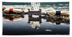 Beach Chairs And Rock Pools Beach Towel