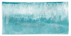 Beach Day Blue- Art By Linda Woods Beach Towel