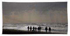 Beach Day Silhouette Beach Towel