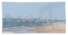 Beach Flight Beach Towel by Nikki McInnes