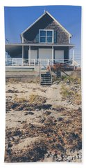 Beach Towel featuring the photograph Beach Front Cottage by Edward Fielding