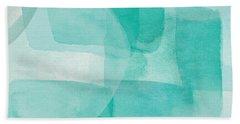 Beach Glass- Abstract Art By Linda Woods Beach Towel