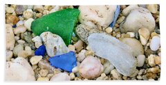 Beach Sheet featuring the photograph Beach Glass by Karen Silvestri