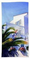 Beach House At Figueres Beach Towel