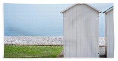 Beach Hut By The Sea Beach Towel