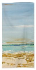 Beach Towel featuring the painting Beach Morning by Diana Bursztein