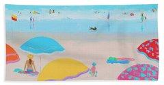Beach Painting - Ah Summer Days Beach Sheet