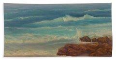 Beach Painting Beach Rocks  Beach Towel