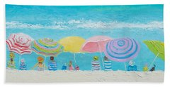 Beach Painting - Color Of Summer Beach Towel by Jan Matson