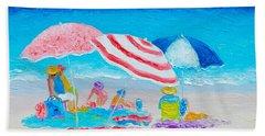 Beach Painting - Summer Beach Vacation Beach Towel