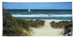 Beach Towel featuring the photograph Beach Path Between The Dunes by Sandi OReilly