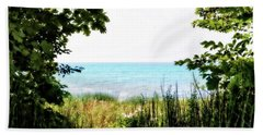 Beach Towel featuring the photograph Beach Path With Snake Grass by Michelle Calkins
