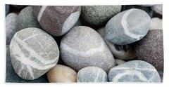 Beach Pebbles Close Up Beach Towel