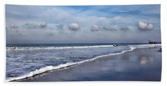 Beach Towel featuring the photograph Beach Reflections by Annie Snel