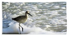 Beach Sandpiper Beach Towel by Kathy Long