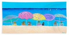 Beach Sands Perfect Tans Beach Towel by Jan Matson