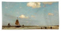 Beach Sheet featuring the painting Beach Scene by Jan Hendrik Weissenbruch