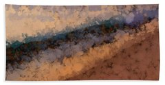 Beach Sunset Abstract Beach Towel