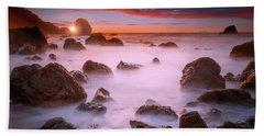 Beach Sunset At San Francisco Beach Towel