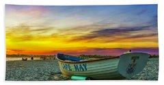 Beach Sunset In Cape May Beach Towel