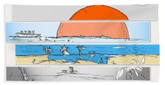 Beach Sunset Beach Towel