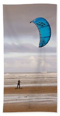 Beach Towel featuring the photograph Beach Surfer by Wendy McKennon