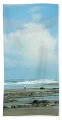 Beach Towel featuring the photograph Beach Walk by Mary Jo Allen