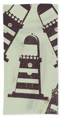 Beacon Buttons Beach Towel