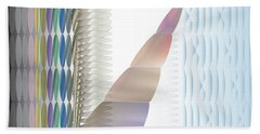 Beach Towel featuring the digital art Bead World Screen by Kevin McLaughlin