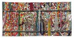 Beads In A Window Beach Towel