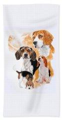 Beagle W/ghost Beach Sheet by Barbara Keith